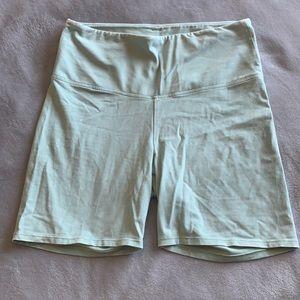Mint Green Cotton Biker Shorts